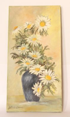 Vintage Oil Painting Flowers by Gertrude Sullivan Condition: Vintage Excellent Size: 16 x 20 inches Not Framed on canvas Oil See photos for details. \Important Note to Consumers. Original Collectibles