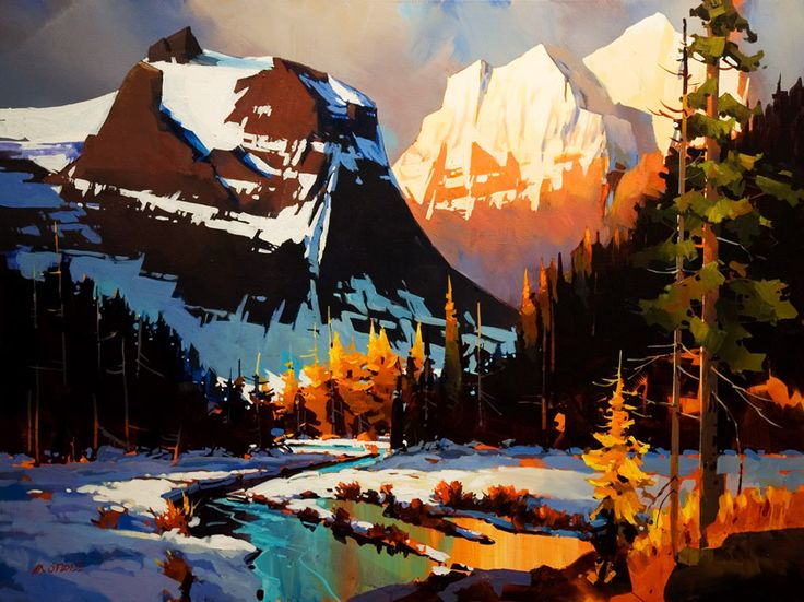 Evening on the Columbia Icefield Parkway, by Michael O'Toole