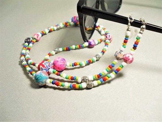 Hippie Eyeglasses Chain Necklace 32 Beaded Lanyard