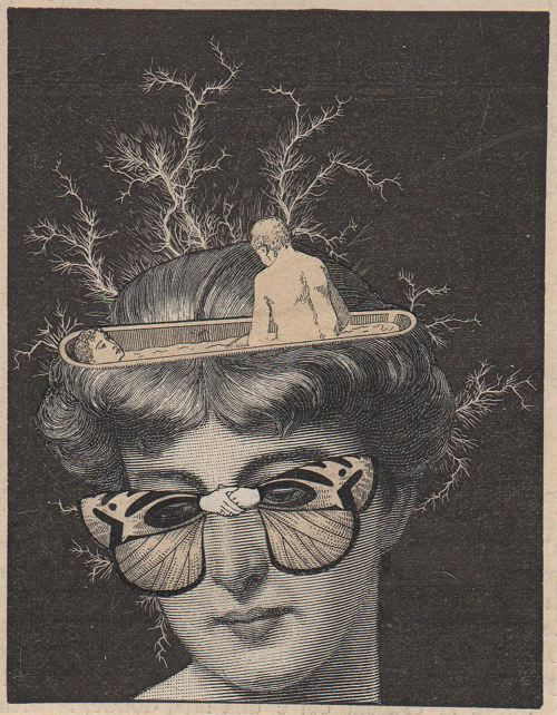 """Could be straight out of my novel """"Hippie Love"""" ... Reminds me of Judith ... (Collage by Martin Copertari)"""