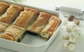 Spinatpie Kan også bruges som aftensmad med en tilhørende salat eller brød.