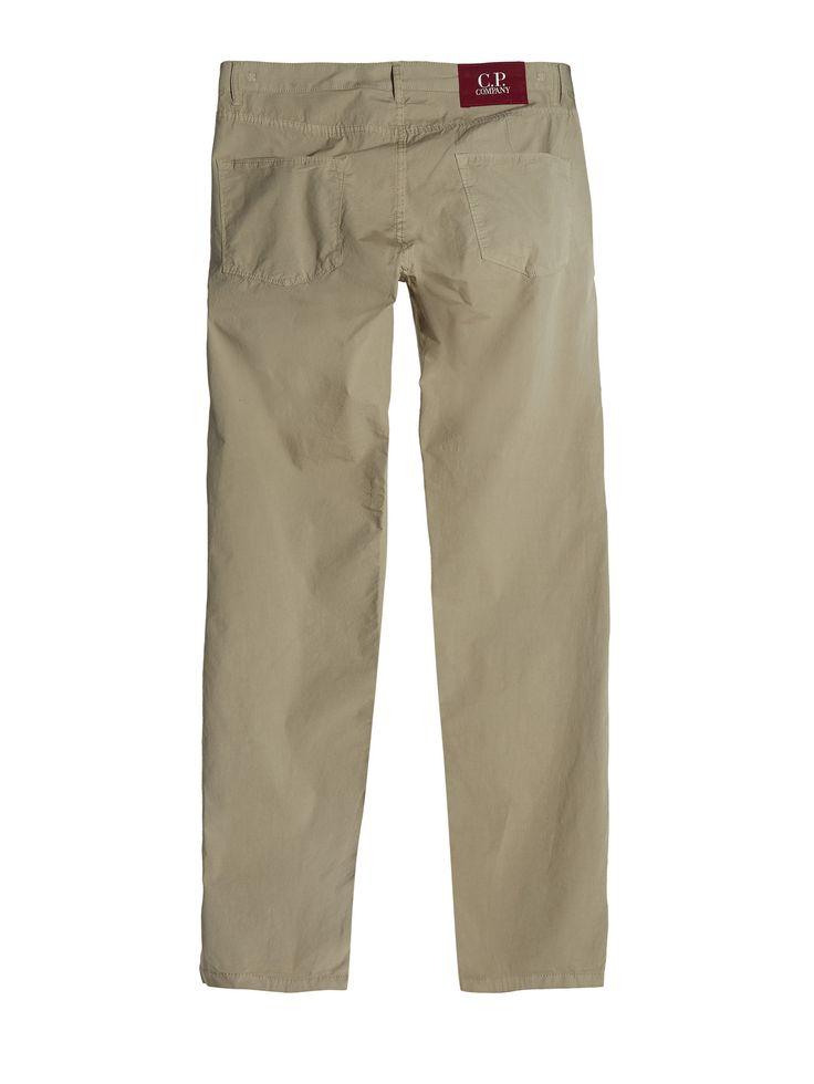 C.P. Company Stretch Poplin Five Pocket Trousers in Khaki