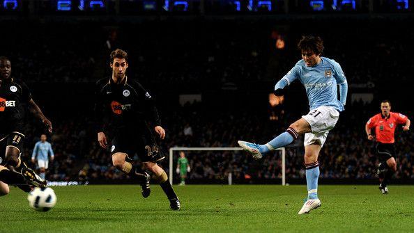 David Silva - Manchester City v Wigan Athletic - Premier League