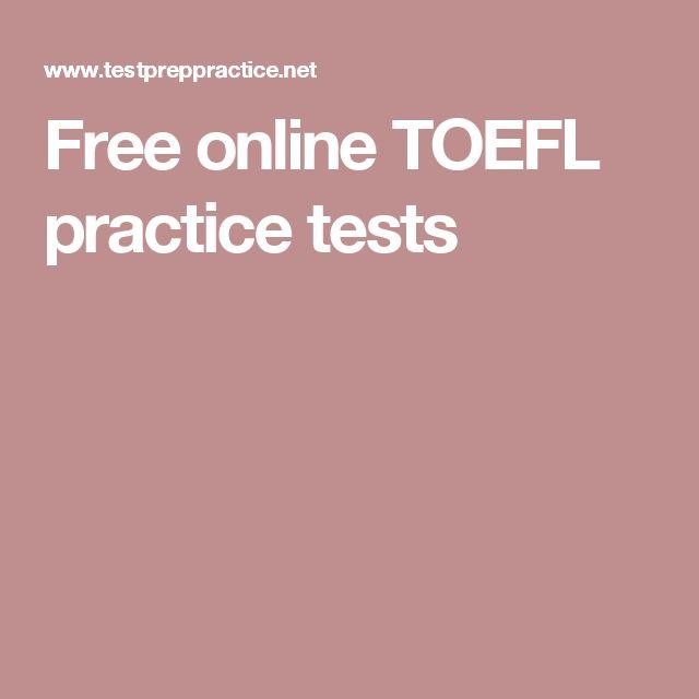 Free online TOEFL practice tests