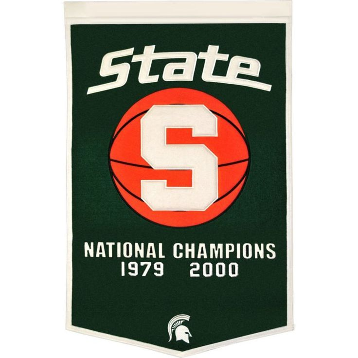 Michigan State Spartans Basketball National Champions Banner, Team