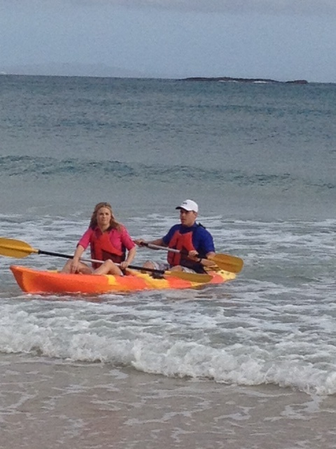 Kayaking at North Stradbroke Island Queensland Australia (Channel 9 Today Show)