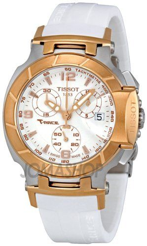 Tissot T Race Quartz White / Gold Women's Watch T048.217.27.017.00: Watches  Price: $477.75