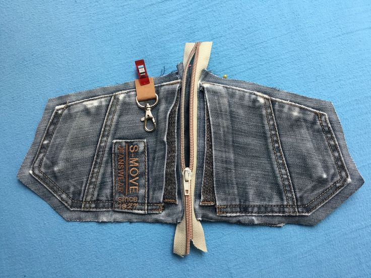Free sewing instructions jeans upcycling pouch