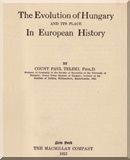 Teleki Pál   The evolution of Hungary and its place in European history