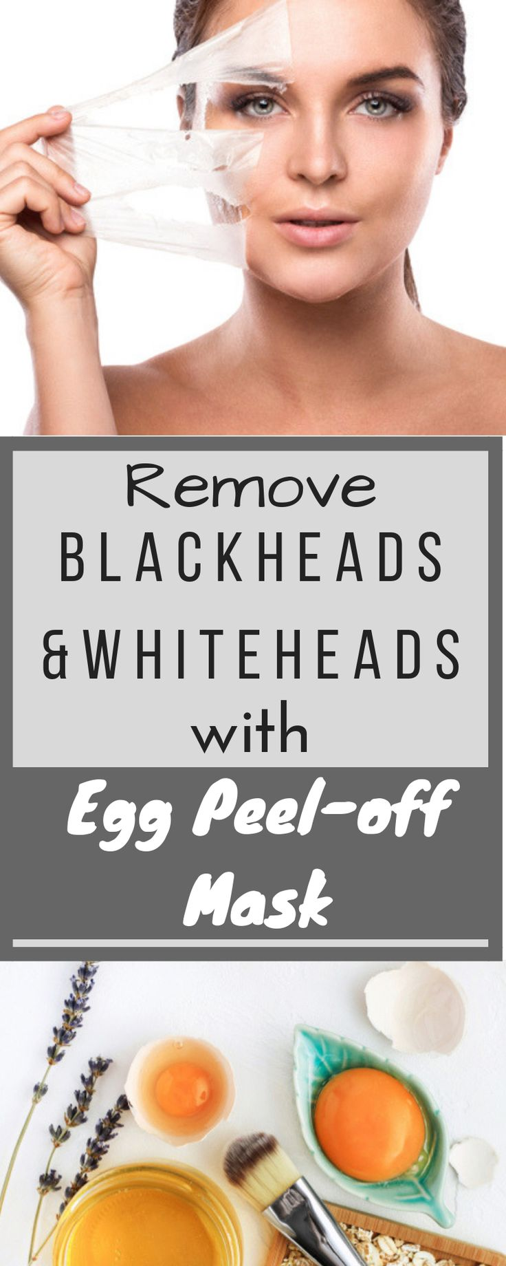 Peel off mask to get rid of blackheads