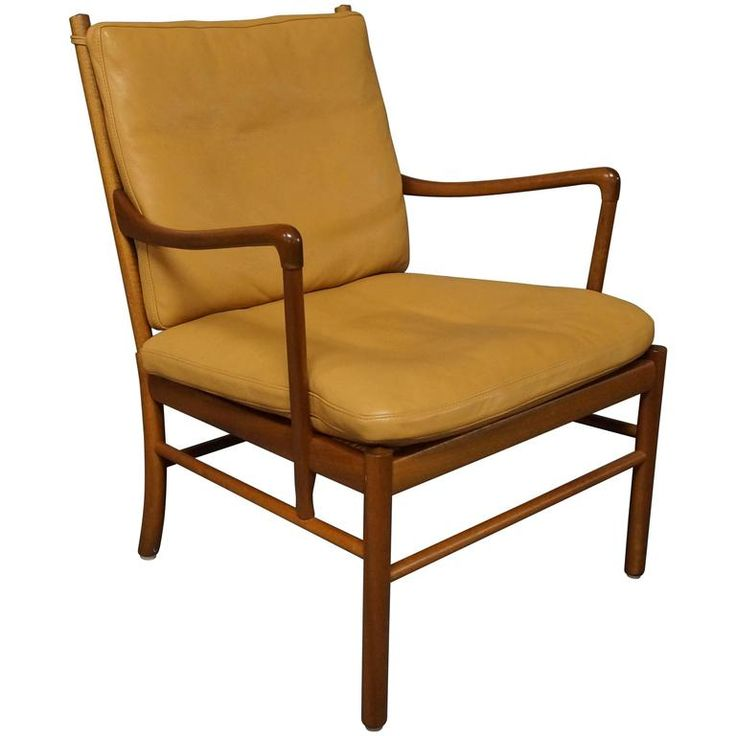 'Colonial' Chair, Model PJ149 in mahogany by Ole Wanscher and P. Jeppesen, 1960s | 1stdibs.com