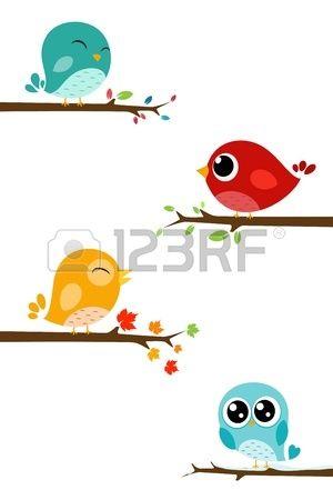 vogels op tak Stockfoto - 21918766