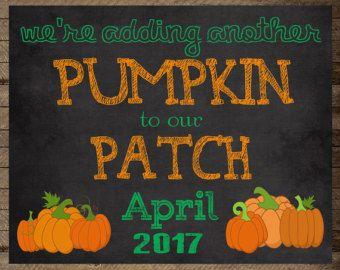 Halloween Pregnancy Reveal // Halloween by ChalkingItUpBoards