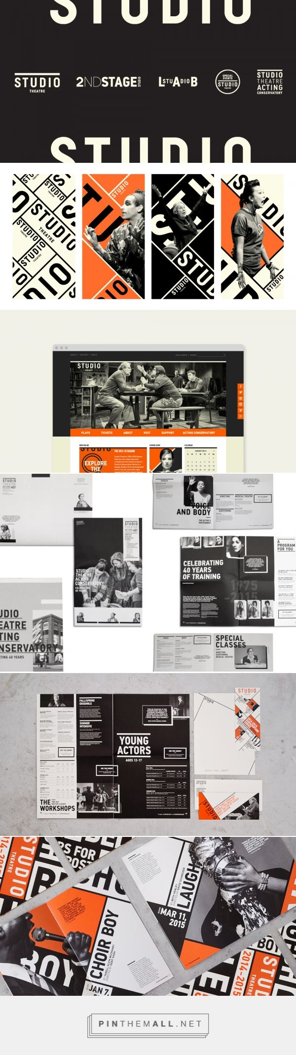 Studio Theatre Rebrand - Eileen Tjan... - a grouped images picture - Pin Them…