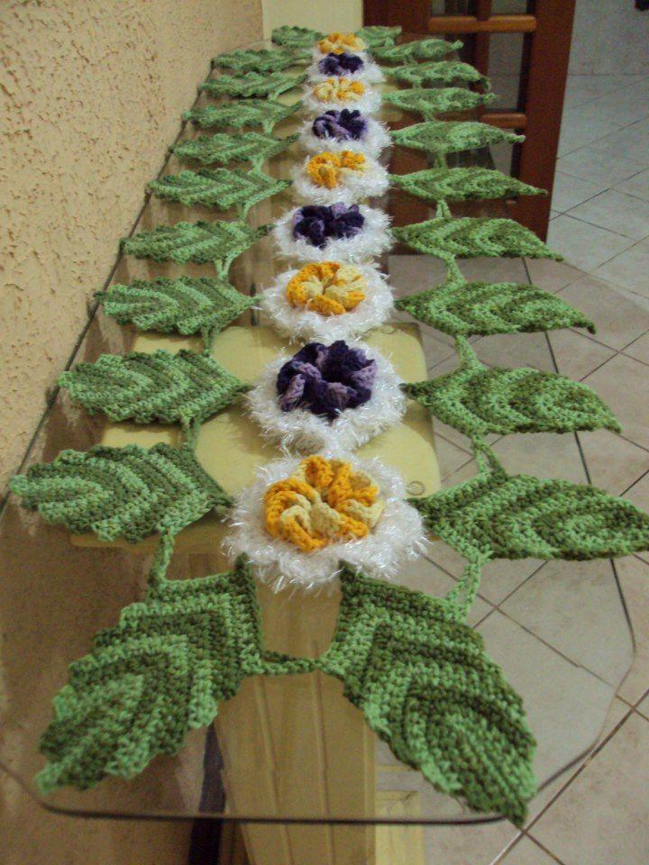 caminho em crochê