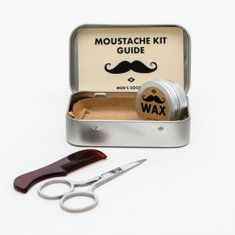 #design3000 Kaum etwas macht einen Mann so attraktiv wie einen gepflegten Bart! Wir präsentieren: ein handliches und stilvolles Bartpflege-Set. #mustache