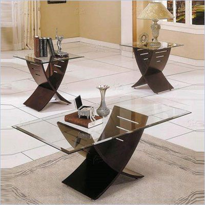 Steve Silver Cafe 3 Pack Espresso Coffee Table And End Tables Set