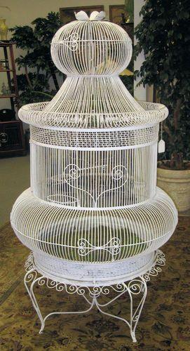 Vintage 6 Foot Victorian Wire Bird Cage Birdcage