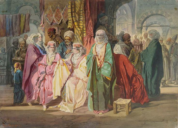 """Femei la bazar"" (copie după Amedeo Preziosi), 1866-1869"