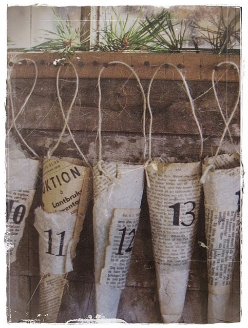 advent calender: Christmas Advent Calendar, Schedule, Crafts Ideas, Advent Calender, Calendar Ideas, Newspaper Cones, Of Advent, Calendri De, Calendar Inspiration