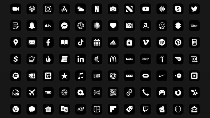 Monochrome app icons pack for ios 14 iphone photo app