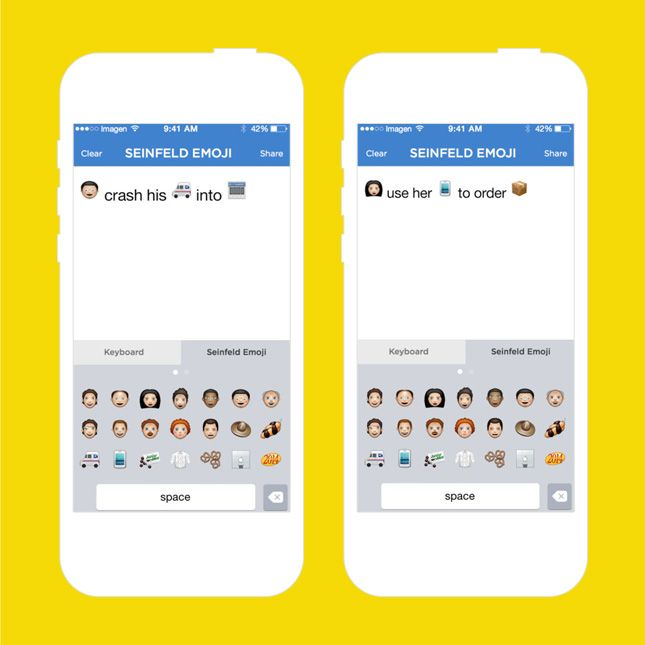 This Seinfeld emoji app is too funny.
