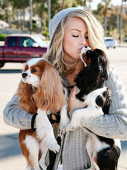 """They're my kids,"" says actress Julianne Hough of Lexi and Harley, her Cavalier King Charles spaniels. ""They're my babies."""