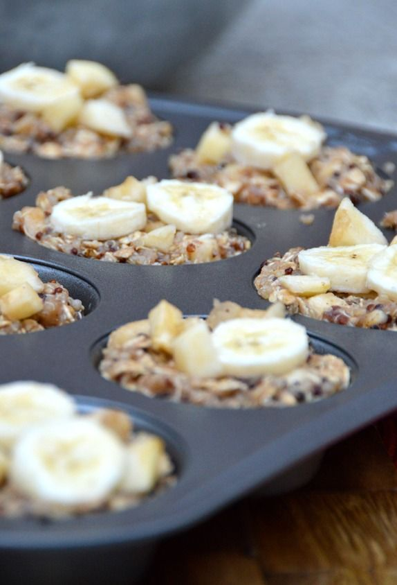 Recipe: Apple Banana Quinoa Breakfast Cups Summary: I needed to find another way to prevent my browning bananas from going to waste. These quinoa breakfast cups are delicious and filling—each one i...