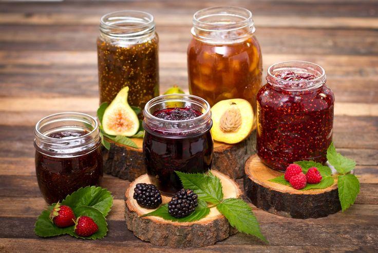 Powidl Blackberry Strawberry Raspberry Jar Food
