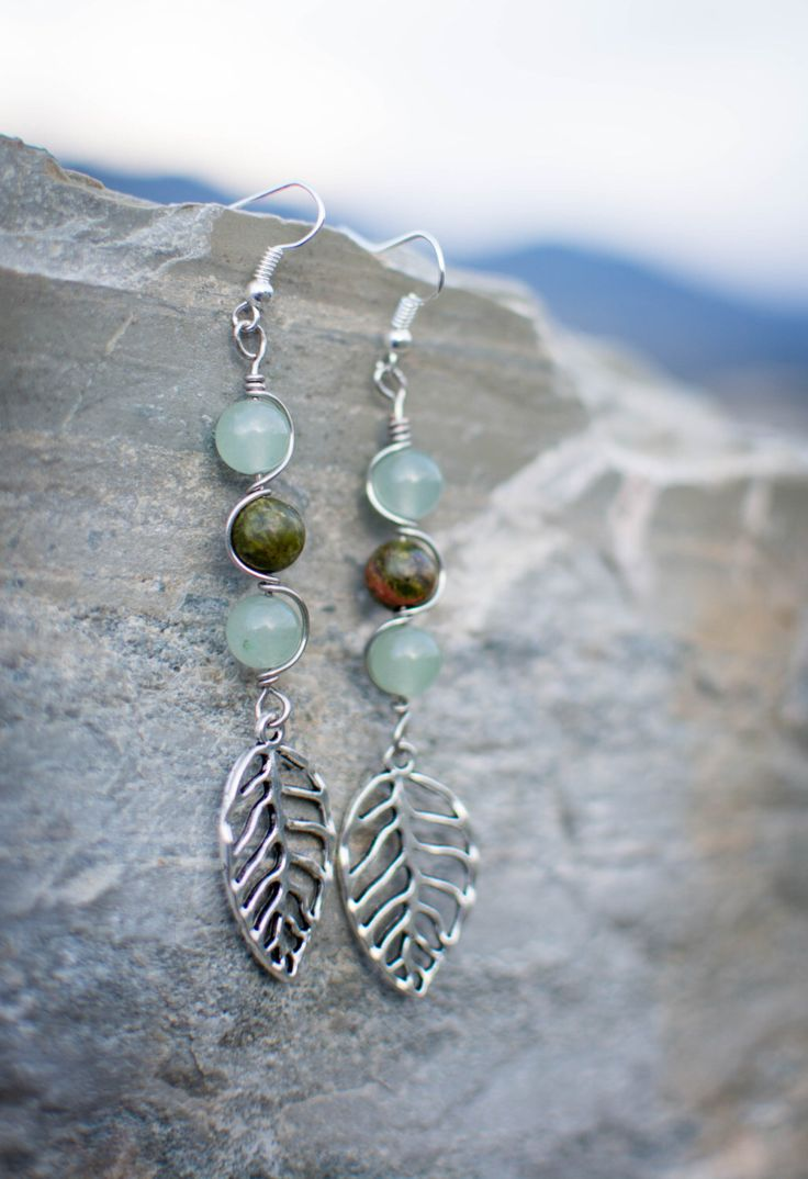 A personal favorite from my Etsy shop https://www.etsy.com/ca/listing/467711563/unakite-and-aventurine-earrings