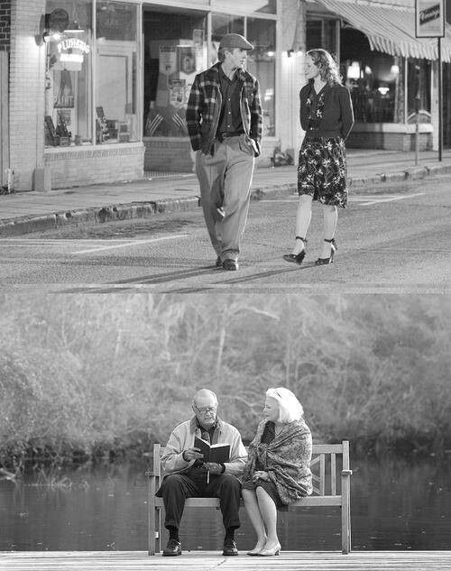 Noah loves Allie with everything he has and has faith in her health. They grow old together, waiting for her to come back to him♥