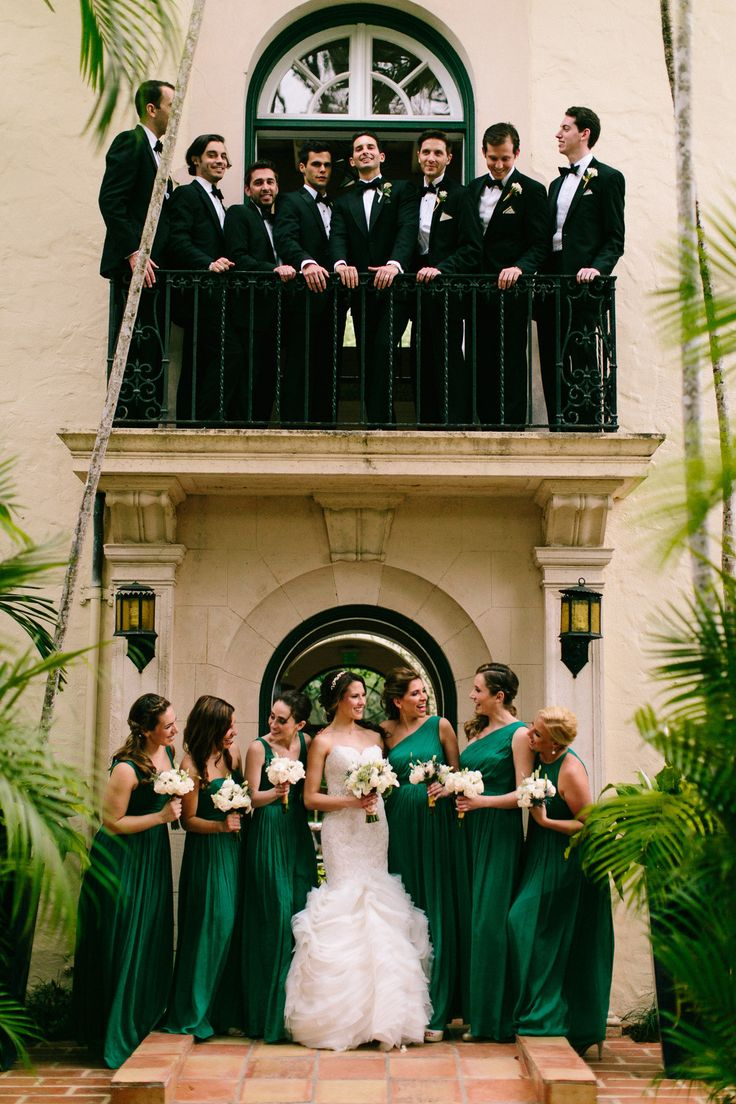 black tie wedding party at Villa Woodbine / photo by beccaborge.com
