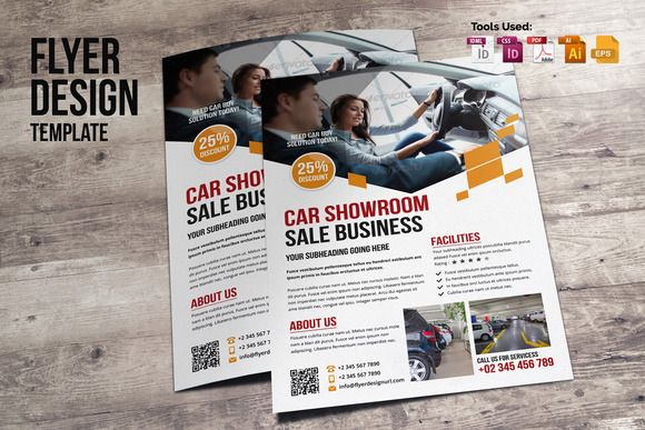 Flyer Design v2 by Miyaji75 on @creativemarket