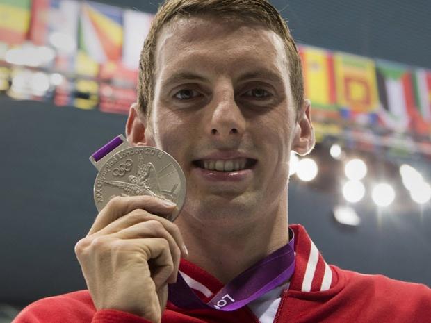 Silver Medalist: Ryan Cochrane Men's 1,500-metre Freestyle Swimming Race
