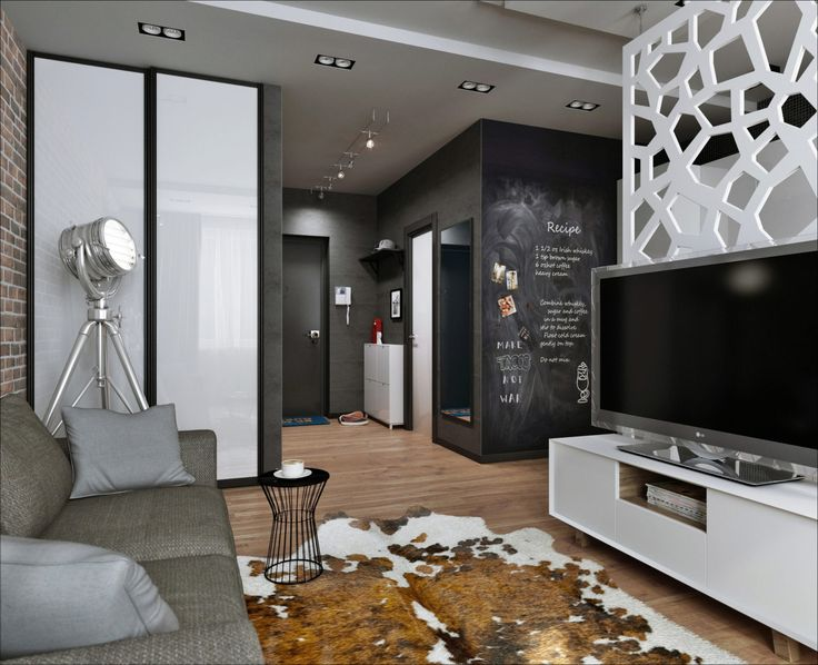 Фото из статьи: Квартира-студия: мужской лофт на 33 метрах