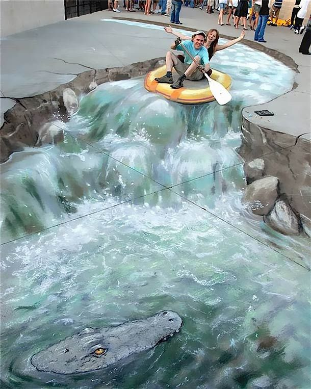 3D Sidewalk Chalk Art: 4 of the World's Most Talented Street Artists | DeMilked