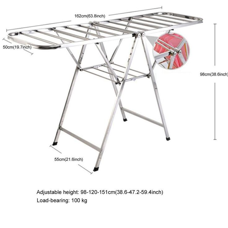 Foldable Multifunctional Clothes Airer, Indoor and Outdoor Laundry Drying Rack, Stainless Steel Balcony Hanger: Amazon.co.uk: Kitchen & Home