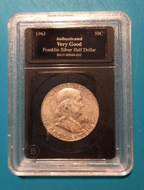 US Mint - 1963 Ben Franklin US Silver Half Dollar Coin Collection