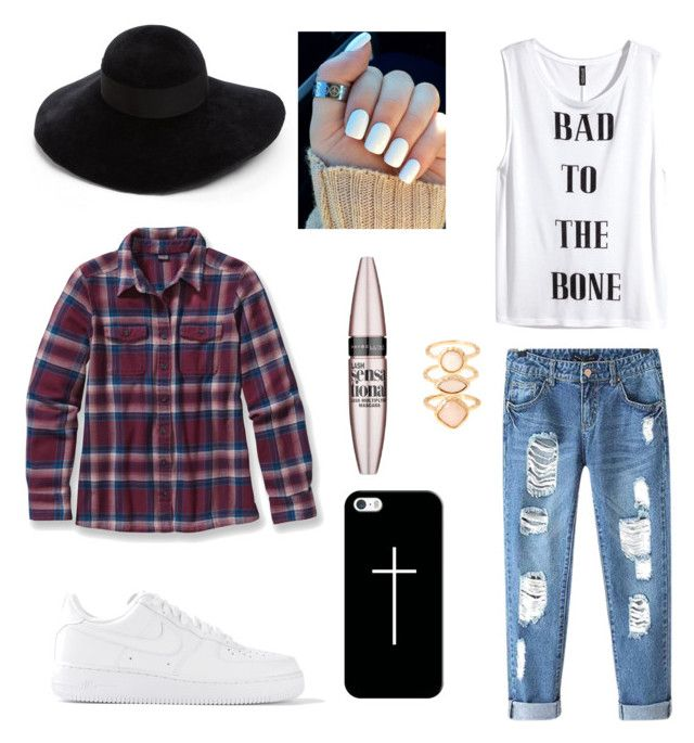 Simple outfit. by helena-saetervik-fredriksen on Polyvore featuring polyvore, fashion, style, Patagonia, H&M, Chicnova Fashion, NIKE, Accessorize, Eugenia Kim, Casetify and Maybelline