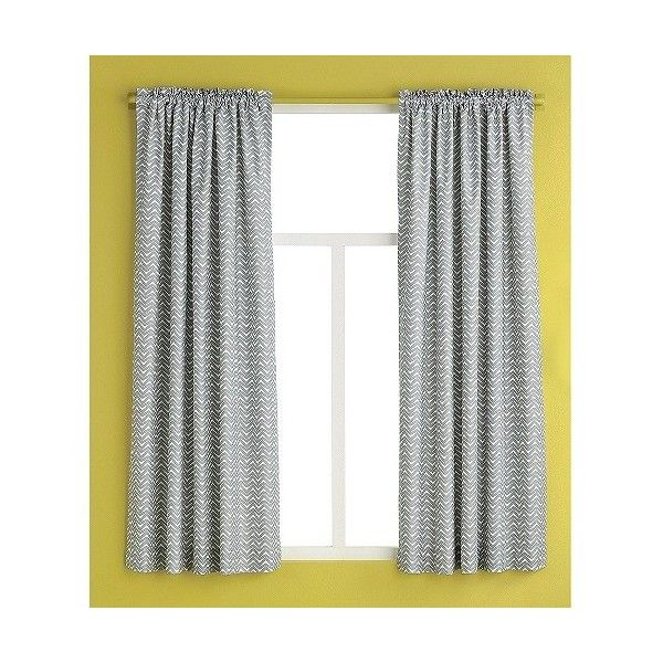 Curtain Panel -Gray Chevron ($9.99) ❤ liked on Polyvore featuring home, home decor, window treatments, curtains, grey, window sun shade, grey window curtains, window panels, sun shades and window sun shades