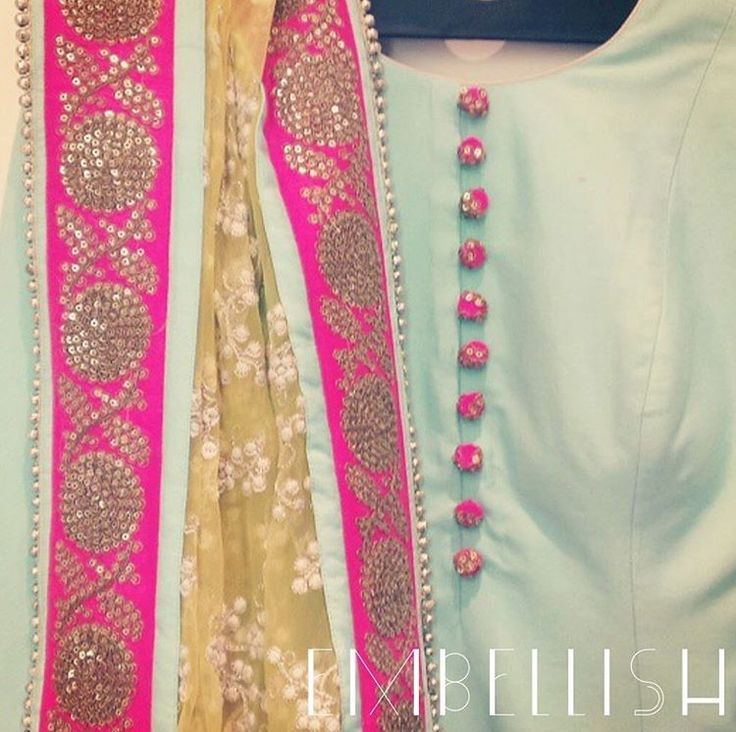 Lovely pastel combo suit with highlightened border in pink