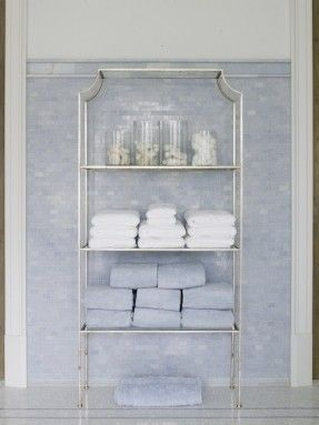 phoebe howard bathrooms worlds away chloe etagere silver leaf with clear glass shelves