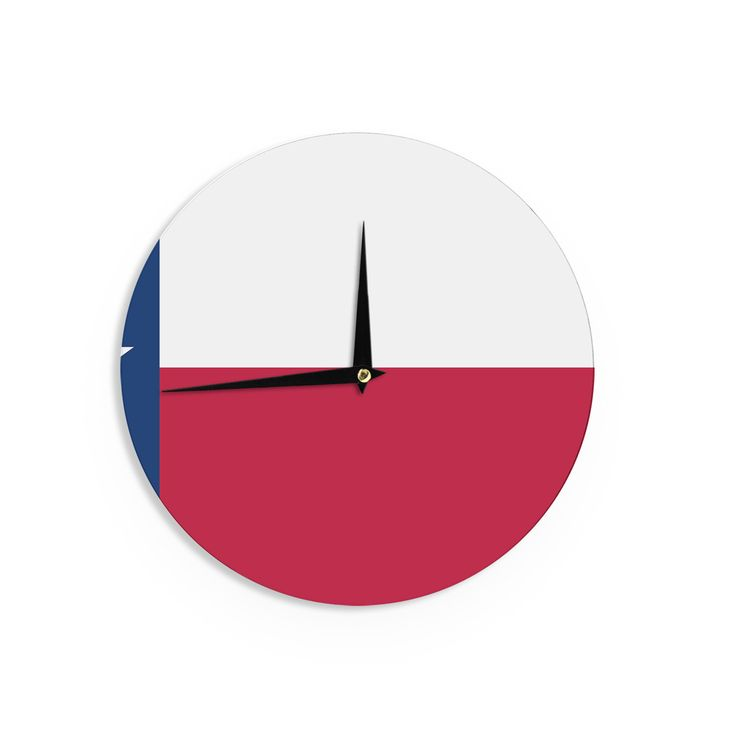 "Bruce Stanfield ""Flag of Texas"" Blue Red Wall Clock"
