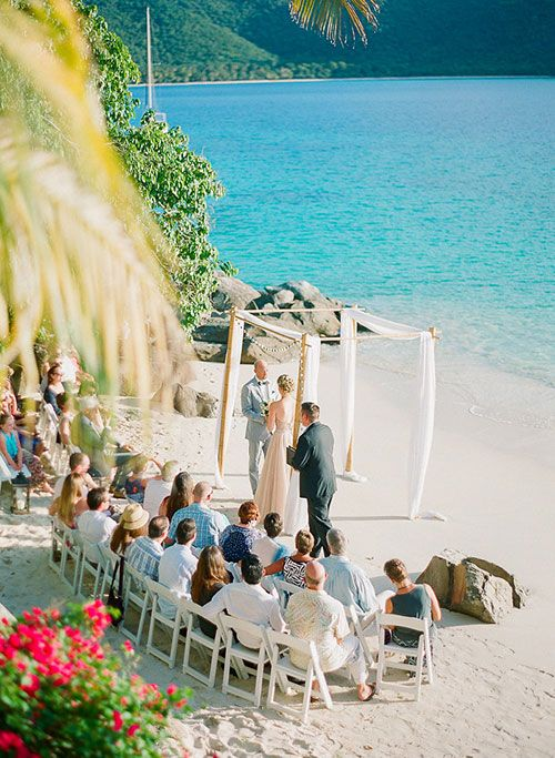 St. Thomas Private Estate Wedding, Ceremony | Brides.com