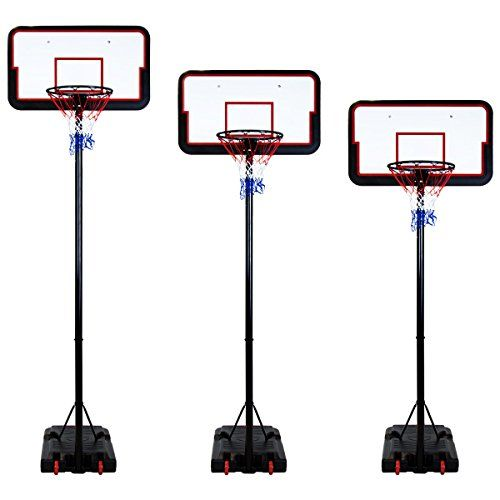From 99.99 Portable & Free Standing Full Size Basketball Hoop & Net Inc Adjustable Stand & Backboard 305cm