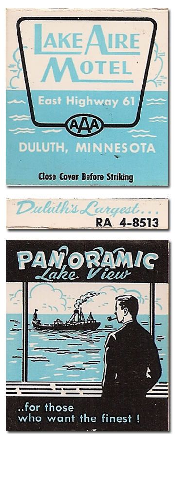 Lake Aire Motel #Matchbooks #frontstriker To Order your Business' own branded #matches GoTo: www.GetMatches.com or Call 800.605.7331 Today!