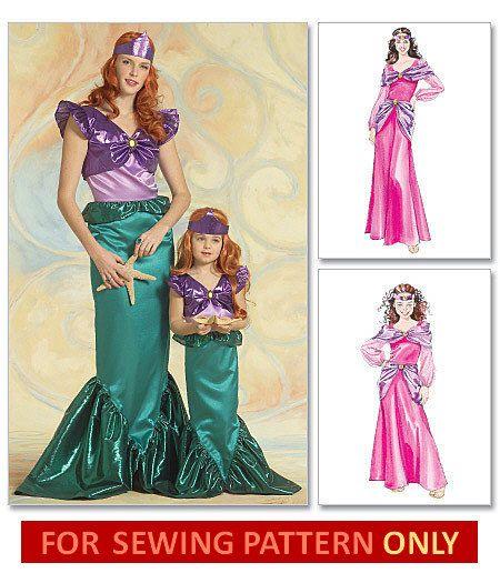 ARIEL COSTUME PATTERN Little Mermaid Retired Sewing Pattern Impressive Mermaid Costume Pattern