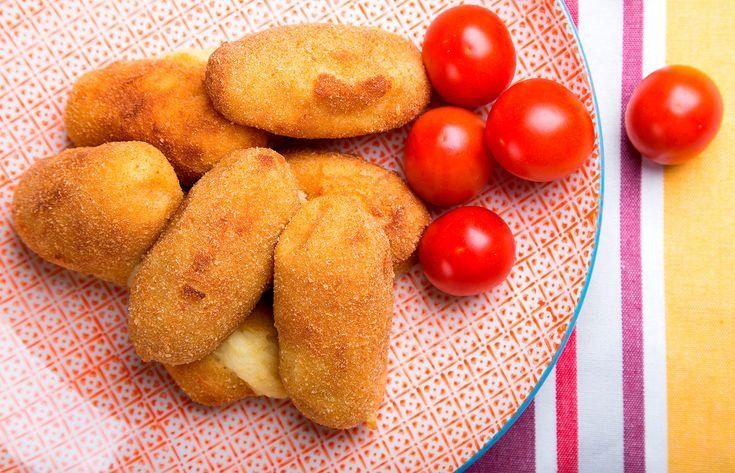 Κροκέτες πατάτας με τέσσερα τυριά