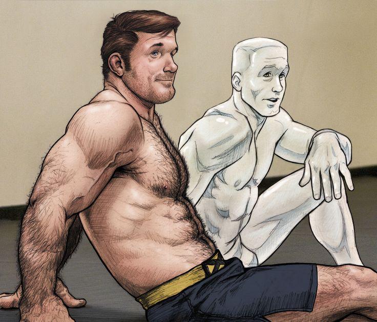 Superheroes follando gay
