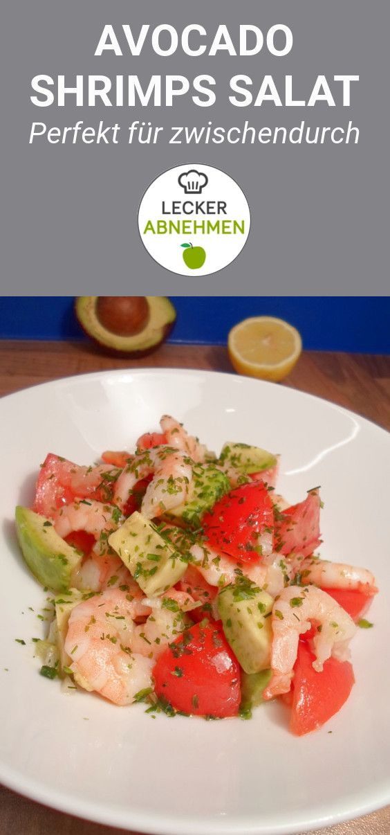 Avocado Shrimps Salat
